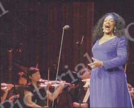 World-class soprano Jessye Norman gives her first concert in China at the Shanghai Grand Stage. CFP