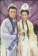 Yang Zi and Huang Shengyi, portraying the hero and heroine in the new series, Marriage of the Fairy Princess. IC